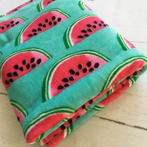 Betsy Johnson Watermelon Fleece Throw